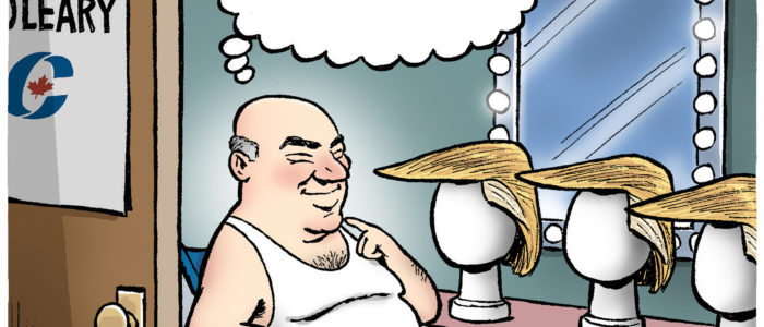 Bald Kevin O'Leary considers Trump toupees