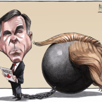 Finance Minister Bill Morneau's budget is chained to Trump policies