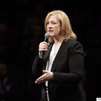 Lisa Raitt speaks during the Conservative leadership debate at the Maclab Theatre in Edmonton, Alta., on Tuesday, Feb. 28, 2017. THE CANADIAN PRESS/Codie McLachlan