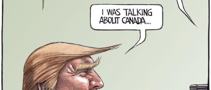 Donald Trump threatens Canada with nukes