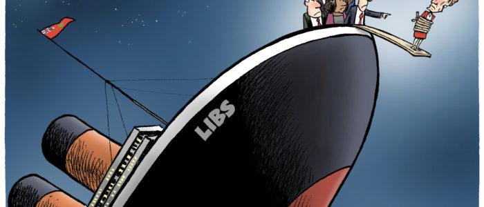 Kathleen Wynne forced to walk plank on sinking Liberals' ship