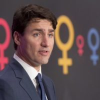Canadian Prime Minister Justin Trudeau speaks during an event on International Women's day in Ottawa, Wednesday March 8, 2017. THE CANADIAN PRESS/Adrian Wyld