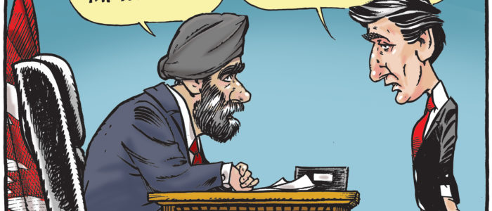 Harjit Sajjan claims credit for Afghanistan battle then occupies Justin Trudeau's seat