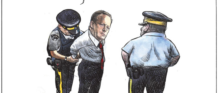 Sean Spicer gets caught trying to sneak into Canada