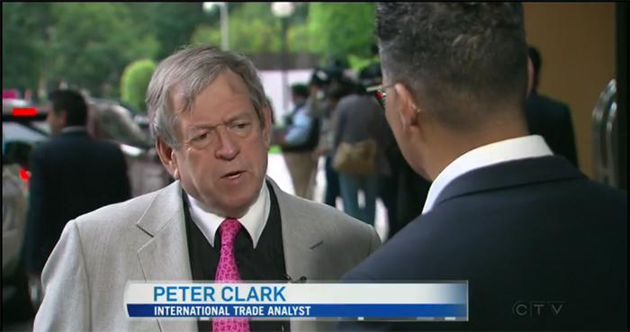 Peter Clark with CTV's Richard Madan
