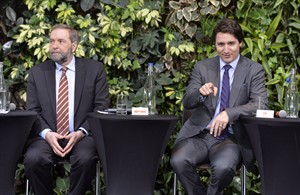 Trudeau might be open to forming coalition with NDP, but not with Mulcair as leader