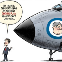 Justin Trudeau doesn't approve of Stephen Harper's connection to F-35 plane