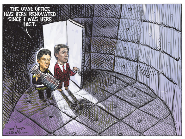 Oval Office has been renovated since Sidney Crosby and Justin Trudeau were last there