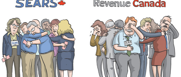 Revenue Canada is sad over not taxing Sears employee benefits