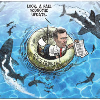 Bill Morneau shows circling sharks his 'Fall economic update'