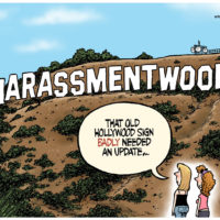 Hollywood sign has been updated to 'Harassmentwood' -
