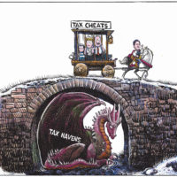 Justin Trudeau ignores 'tax haven' dragon to punish middle class