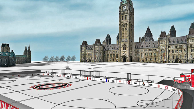 canada 150 rink on parliament hill opens today national