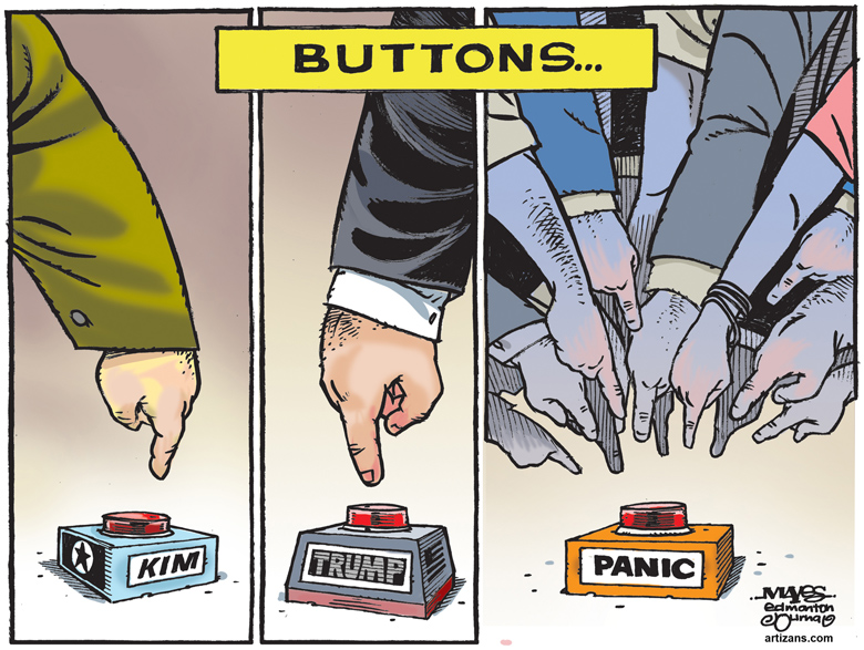 Public pushes panic button over North Korea and America conflict
