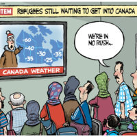 Refugees waiting to enter freezing Canada aren't in a rush
