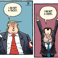 Donald Trump is not a racist; Richard Nixon is not a crook