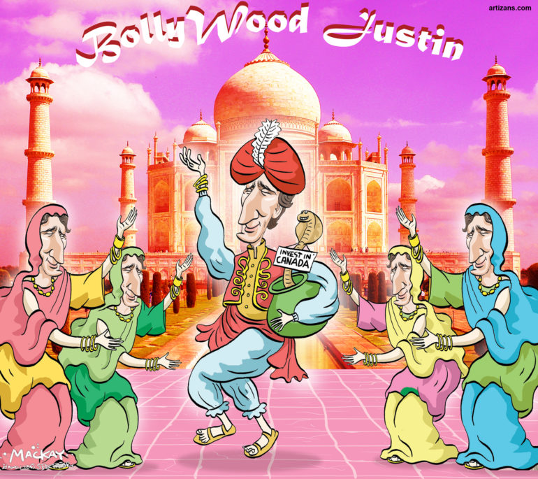 Bollywood Justin Trudeau promotes trade with India