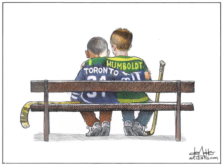 Humbolt comforts Toronto after deadly van attack