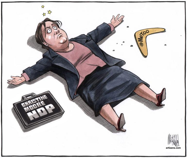 NDP MP Christine Moore hit by #MeToo boomerang she threw