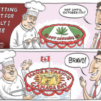 Justin Trudeau cancels 'cannabis' cake for 'tariff' cake on Canada Day