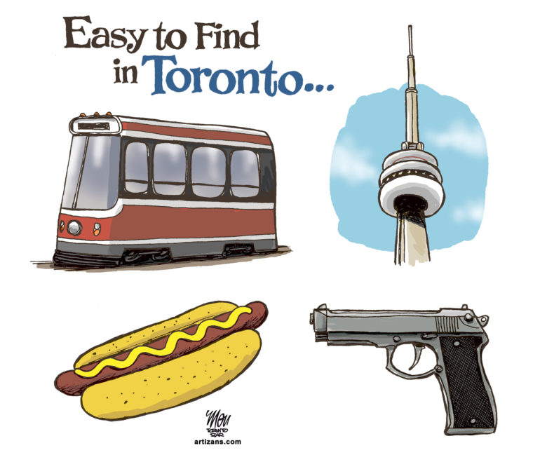 A gun is an easy to find item in Toronto