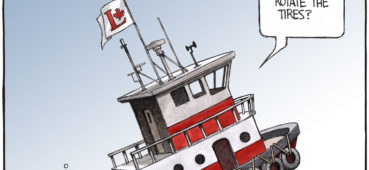 Liberals rotate the 'Cabinet' bumpers on their sinking ship