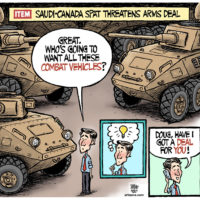 Justin Trudeau tries to unload Saudi Combat Vehicles to Doug Ford