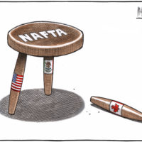 NAFTA stool standing without Canada leg