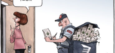 Canada Post carrier arrives with Pot package