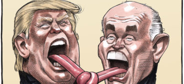 Trump and Giuliani have tongues tied together