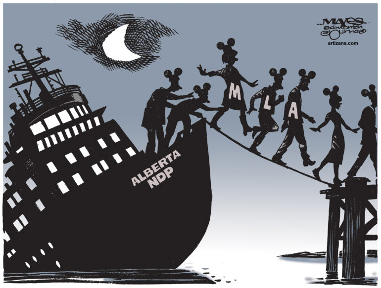Alberta NDP MLAs abandon sinking party ship